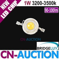 FREE SHIPPING! Bridgelux LED Chip 1W Warm White Power LED Lamp Beads 45mil 90-100lm 3200-3500k 50pcs/lot (CN-BLC10) [Cn-Auction]