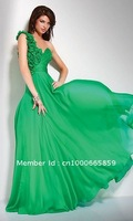 Costom Fashion  One-shoulder Fold Chiffon Mini Open back Floor length Prom Dresses Evening Party Cocktail Dress
