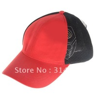 Free Shipping+Excellent Outdoor Sports Hat Foldable Leisure Cap with Adjustable Strap and Brim (Red with Black)