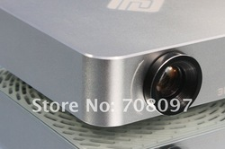 portable mini led projector high resolution high lumens led light source with HDMI VGA Earphone TV USB SD Free shipping!(China (Mainland))
