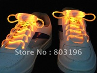 free shipping 100PCS/Lot  Best Price Disco Flash light up LED Sports Shoelaces,Flashing Shoelaces Packed with OPP bags