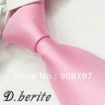 Brand new Classic Men's Necktie Wedding Groom Party Neckties 100% Silk Tie Handmade Pink Ties D.berite Wholesale FS22