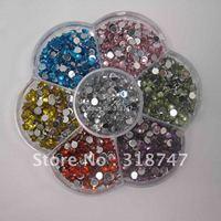 Free shipping 4000pcs 4mm Mix Colors acrylic rhinestone Beautiful decoration and DIY