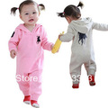 1pc retail!  in stock spring  autumn baby long romper with hat free shipping