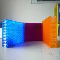 translucent acrylic honeycomb panel/sheet