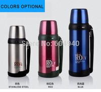 Big volume 1500ml stainless steel Vacuum FLASK bottle for Ladies Men holding water bottles thermos
