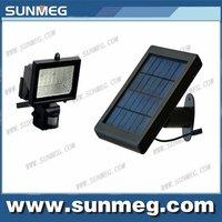 Free Shipping Saving Energy Green Product Led Solar PIR Sensor Flood Light (SM05-02B-PIR)