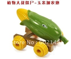 2012 new arrival ,20pcs/lot free shipping wholesales Toys cannon,children toys, Plants Zombies Corn chariots Toys Gun(China (Mainland))