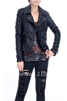 2012ladies locomotive washed pu short coat