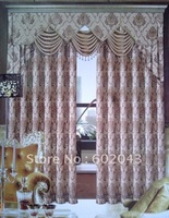 New Arrival Fashion Europen style Jacquard Hometextile Decoration golden yarn fabric window curtain drapes
