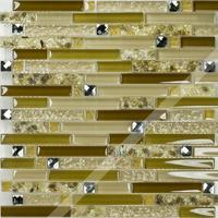 [Colorful Mosaic] Shell Patterned Strip Glass Mosaic Tile QO005