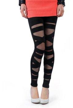 Sexy net yarn lace splice leggings for lady new style European style women leggings pants Free shipping W127