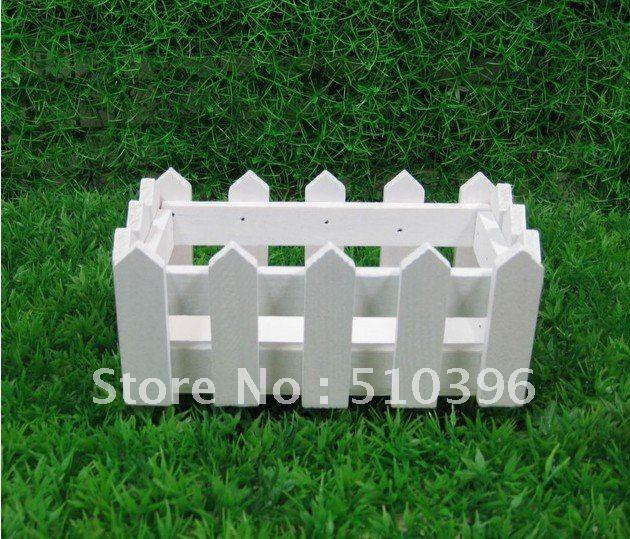 cerca para jardim branca:acessórios-de-decoração-para-casa-de-madeira-branca-cerca-vasos-de