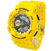 Fashion Multi-functional EL Light 30M Waterproof Dual Time Analog Digital Stop Sports Watch Yello 47400 FREE SHIPPING