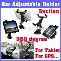 Free Shipping! Cradle Bracket Clip Car Holder for epad for Tablet PC, GPS, Suction Tablet Holder for Back on Car, 360 degree