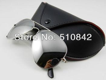 Free shipping Designer Sunglasses Silvery Mirror Sunglasses Mens Womens Glasses 58mm 62mm R1