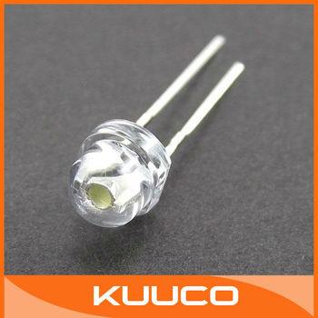 200 PCS/LOT 4.8mm Straw Hat LED  White Light Emitting Diode #080001