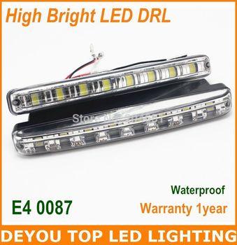 High quality 5050SMD 8led  LED Daytime Running Lights  High bright LED DRL 100% waterproof  1 year warranty  LED Car Fog lights