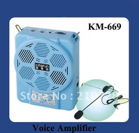 DHL Free Shipping Mini Portable Amplifier KM-669 with recording and reread function