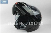 Free shipping Double Lens helmet,Black Color Motorcycle Open Face Helmet,Size S-XXL
