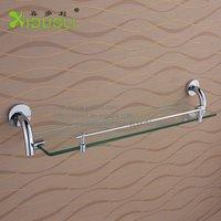 Xiduoli Free shipping Chromeplated Bathroom Single Glass Shelf  XDL-15853