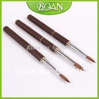 Wholesale 8# Kolinsky Acrylic brush Sable Painting Pen Nail Art Brush Free shipping