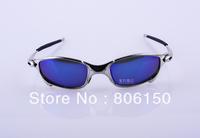 Hot sale Juliet Sports Men Sunglasses Polarized silver Frame blue ice Iridium Lens