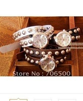 Direct manufacturers tide fan master love double Liu Ding bracelet Leather Ladies watch,free shipping