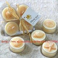 Beach shells candles /Starfish art candles/Free Shipping