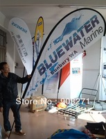 Big Promotion, great price, teardrop banner, free shipping, doubled sided printed, 2.25 meters height, cross base and water bag