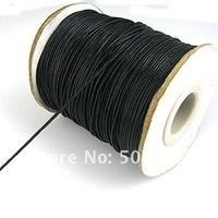 0.8mm 100yard(90m) shamballa black cords, jewelry beading cords,waxed rope fit bracelet jewelry string