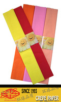 colorful crepe paper gift wrapping paper decoration celebration paper 0.5*2.0cm 1sheer/pack