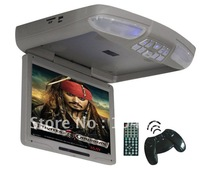 "2PCS/lot 12.1"" Guaranteed 100% + Wholesale and retail+12.1"" Digital LCD 16:9 Car Flip Down DVD Player w/USB SD FM full function"