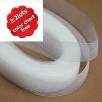 "3.1"" 8cm Flat Plain Horsehair Crin Crinoline Braid For Women 100yard/lot #31Color Free Shipping"
