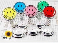 DHL Free Shipping 60Pcs/Lot  Hang Nurse Watch Smile+7Color+ Doctor Watch Wholesale