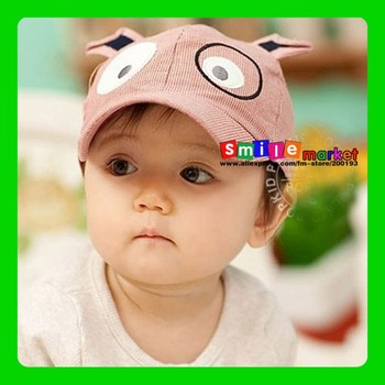 SMILE MARKET Free shipping 1piece   Children baseball cap puppy children hat wholesale