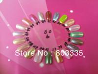Free shipping 2013 New Design Oval-shaped false nail display Stand Polish Color Chart
