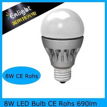 8W LED Bulb SAMSUNG SMD5630 690lm E26/E27 CE Rohs Free Shipping