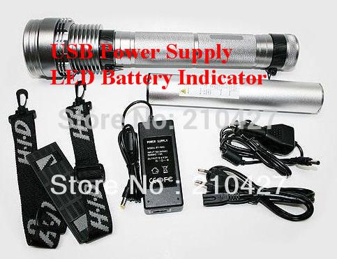 Wholesale Super Xenon 85W HID Torch Flashlight Spotlight SOS(China (Mainland))
