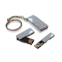 Free shipping wholesale 10pcs/lot custom usb metal flash drive waterproof Glass fiber mini usb flash drive with key chain