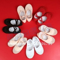 Free Shipping!Child Dance Shoes Ballet Slippers 4 colors US SZ 9-12.5