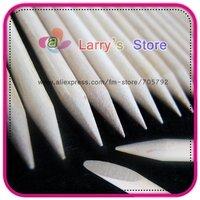 Free Shipping 100pcs Orange Wood Sticks Nail Art Care Salon Cuticle Pusher Remover Manicure Tool Wholesales