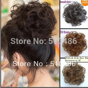 New Popular Dish Hair Bun PonyTail  Accessories Hair Roller Haipieces synthetic hair toupees Good Quality 1pcs/lot