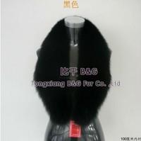 BG5975 Holiday  Newest Black Genuine Fox Fur Collar Winter Ladies Elegant Neckwear Hot Sale Real Fox Fur Collar