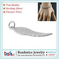 Beadsnice ID28437 hot sale angel wing charm sterling silver charms wholesale free shipping wing charm for bracelet making