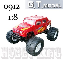 Free shipping 1/8th Scale Nitro Engine Car 0912 RC car nitro gas 4WD monster truck 4x4 TRX 15cxp 18cxp racing engine RTR HSP 1/8(China (Mainland))