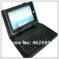 "Wholesale 10"" laptop keyboard case leather case with USB Keyboard Bracket for apad epad ebook mid Tablet PC"