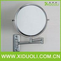 espelho Xiduoli Bathroom copper double faced cosmetic mirror With Chrome Plated 2068 princess makeup mirror desktop