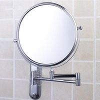 Xiduoli  Copper Cosmetic Mirror Bathroom Makeup Mirror Double Faced Bath Mirrors Bathroom Wall Mouted Hanging Mirror 2148