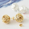 ~Min 12pcs/lot mix available,Cute lantern ball earrings,ear stud,2080.2344A.Free shipping